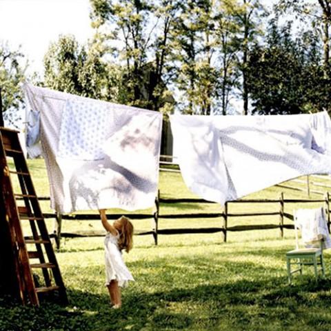 Ako sa schladiť - vyvesené obliečky