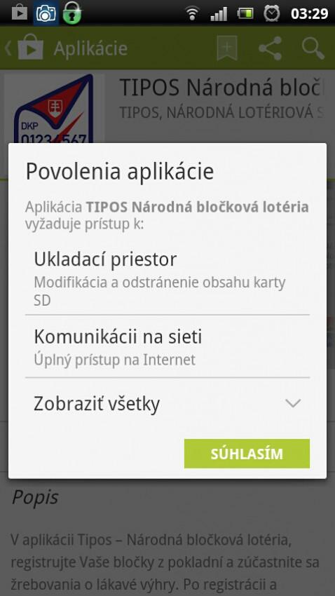 TIPOS narodna blockova loteria apliacia v google play instalacia
