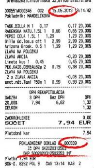 bločková lotéria, dkp, dátum