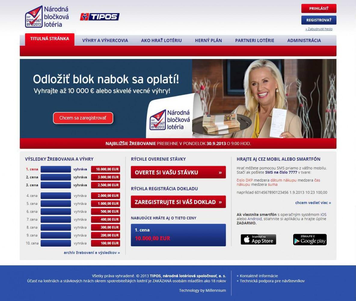 Ako registrovať bločky cez web návod
