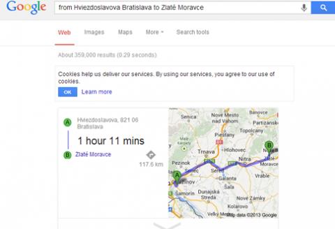 google trasa