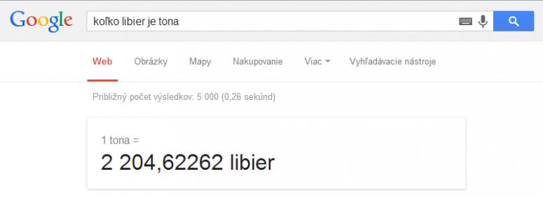 prevod hmotnosti google