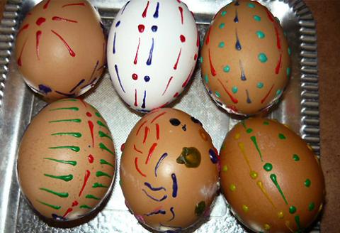 domáce kraslice, využite škrupiny z vajec naplno