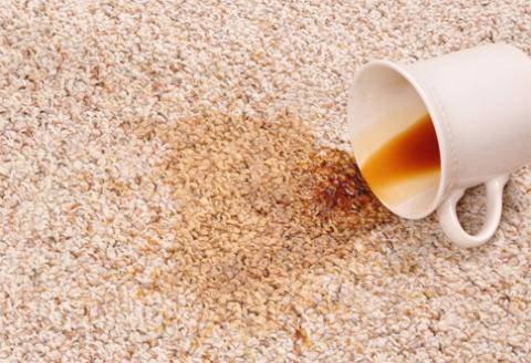 tip škvrny koberec čistenie