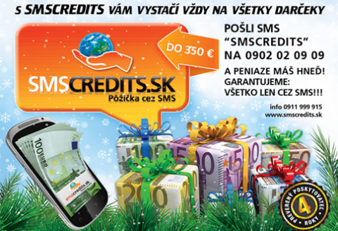 SMSCREDITS peniaze cez SMS