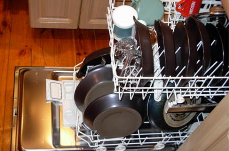 umývanie riadu v umývačke