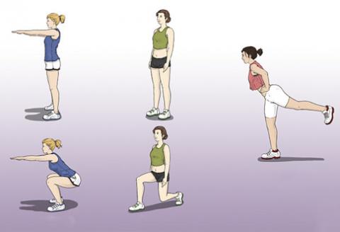 cvicenie chudnutie zadok a stehná