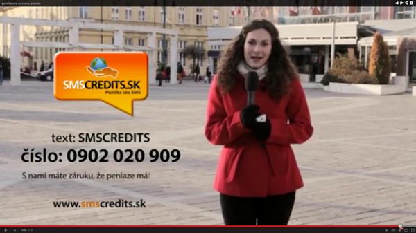 SMSCREDITS reklama pôžičky