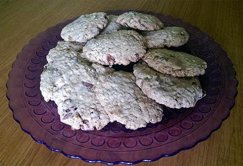 koláčiky cookies ovsené vločky recept