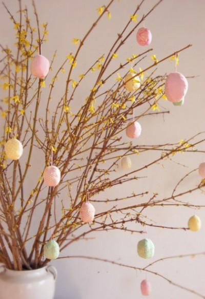 veľkonočný stromček vajicka