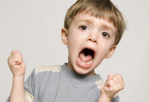 detske obdobie vzdoru hnevu kriku