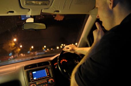 mikrospánok v aute pri jazde